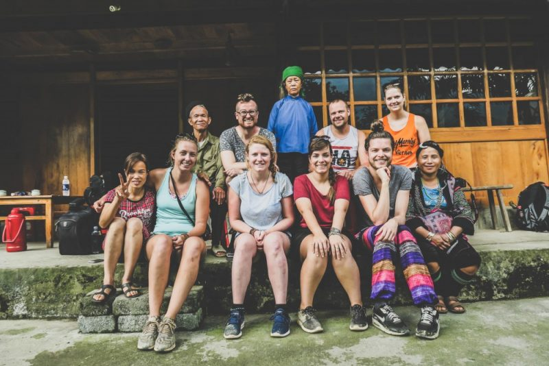 The group and family from the homestay.