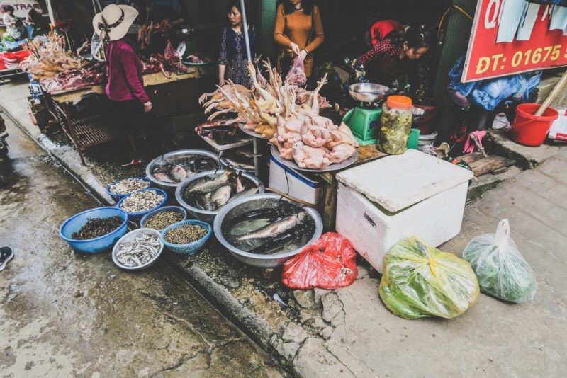 Some local food at the market.